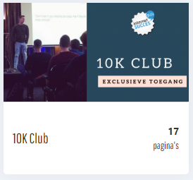 10 K Club AMR voor de review Internet Succes Gids Affiliate Marketing Revolutie