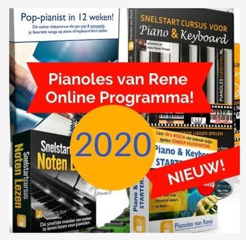 Het vernieuwde pianoles van Rene programma