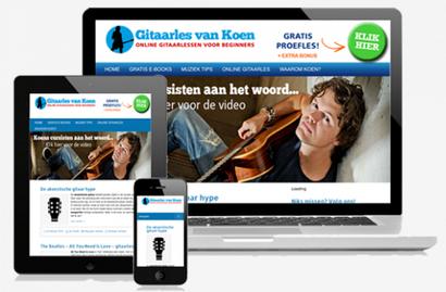 online gitaarles van Koen