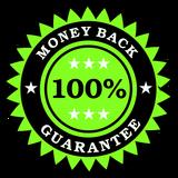 stempel met geld terug garantie