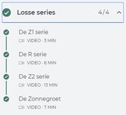 De series video's van de cursus