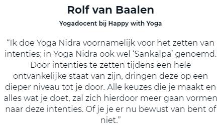 Testimonial van Rolf van Baalen voor de Yoga Nidra Review