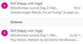 Mail van de cursus mindfulness