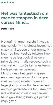 reactie op cursus voor de Mindfulness Voor Het Dagelijkse Leven Revew