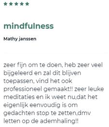 reactie op de mindfulness cursus van Rolf van Baalen