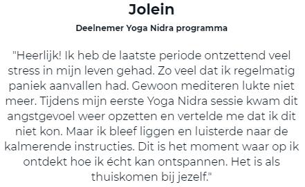 Testimonial Jolein
