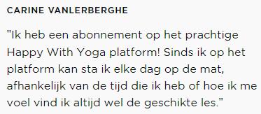 Ervaring Carine met yog